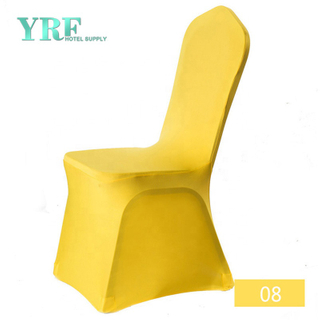 YRF Universel Jaune pas cher Spandex chaise de mariage Covers