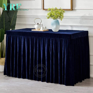 YRF gros élégante rectangulaire Banquet Table Skirting
